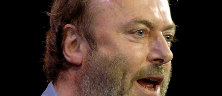 FILE - In this Sept. 14, 2005 file photo, British essayist Christopher Hitchens speaks during a debate in New York.  (AP Photo/Chad Rachman, File)