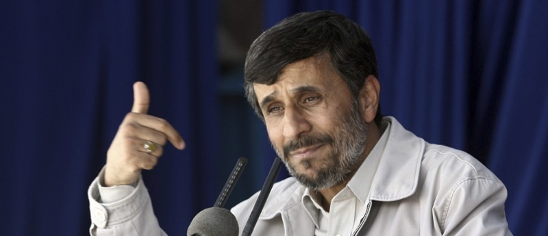 In this photo released by the semi-official Iranian Fars News Agency, Iranian President Ahmadinejad speaks to a public gathering in the city of Kerman, about 625 miles (1040 kilometers) southeast of the capital Tehran, Iran, Wednesday, May 26, 2010. Iran