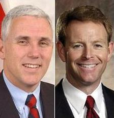 Photo of Rep. Mike Pence & Tony Perkins